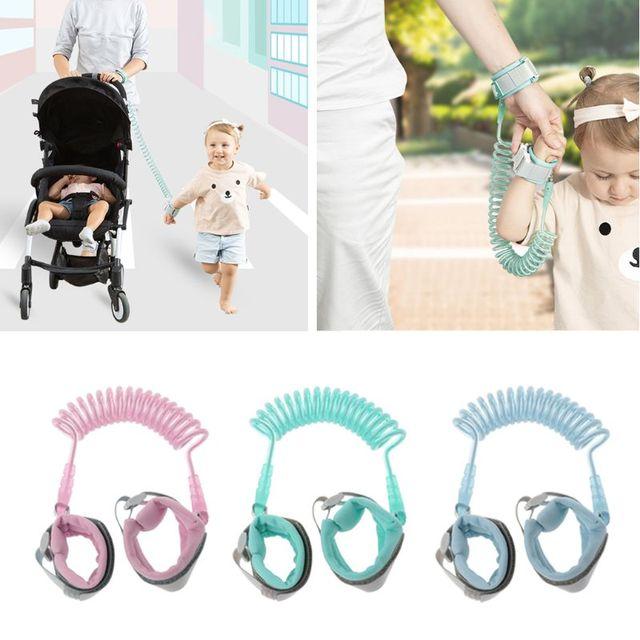 1.5M 2M 2.5M Adjustable Kids Safety Child Wrist Leash Anti-lost Link Children Belt Walking Assistant Baby Walker Wristband 1