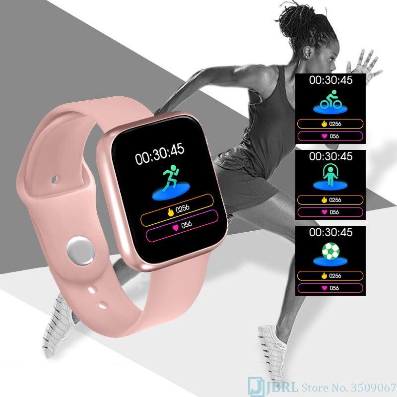 Relógio inteligente para android ios eletrônica relógio inteligente de fitness rastreador pulseira de silicone inteligente-relógio horas 4