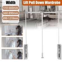 Wardrobe-Holder Hanging-Rail 30kg-Loading Space-Saving Return Rock Adjustable Lifting/Pull-Down