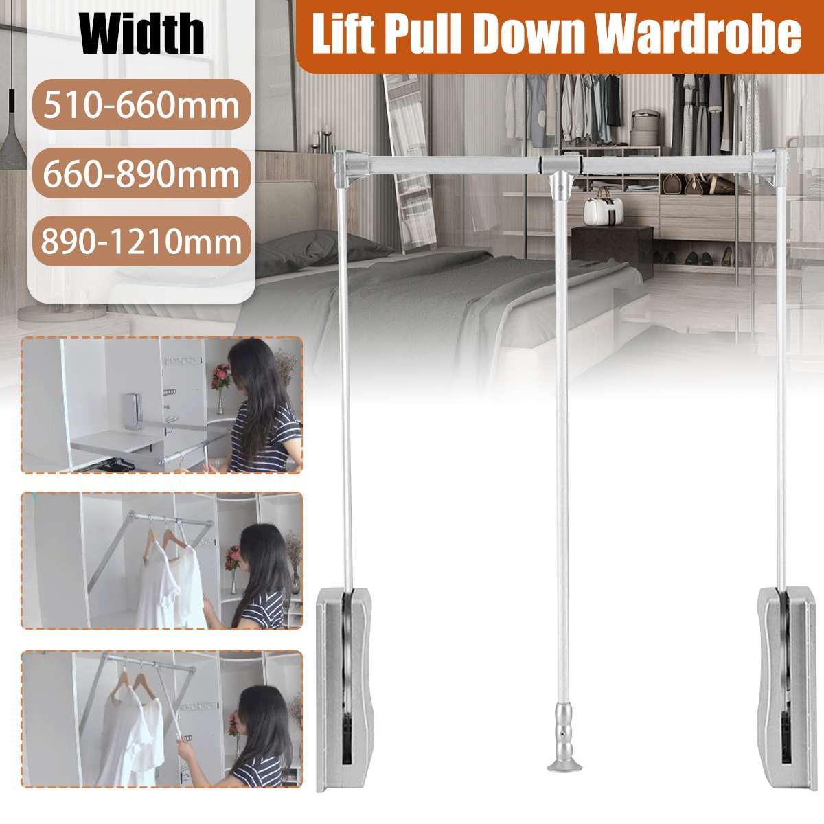 Регулируемый держатель шкафа для подъема/вытягивания, мягкая направляющая, экономия места при возврате, нагрузка 30 кг, 3 размера