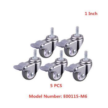 5 pçs/lote 1 Polegada cinza tpe parafuso roda de freio m6 com bloqueio polia beleza instrumento universal