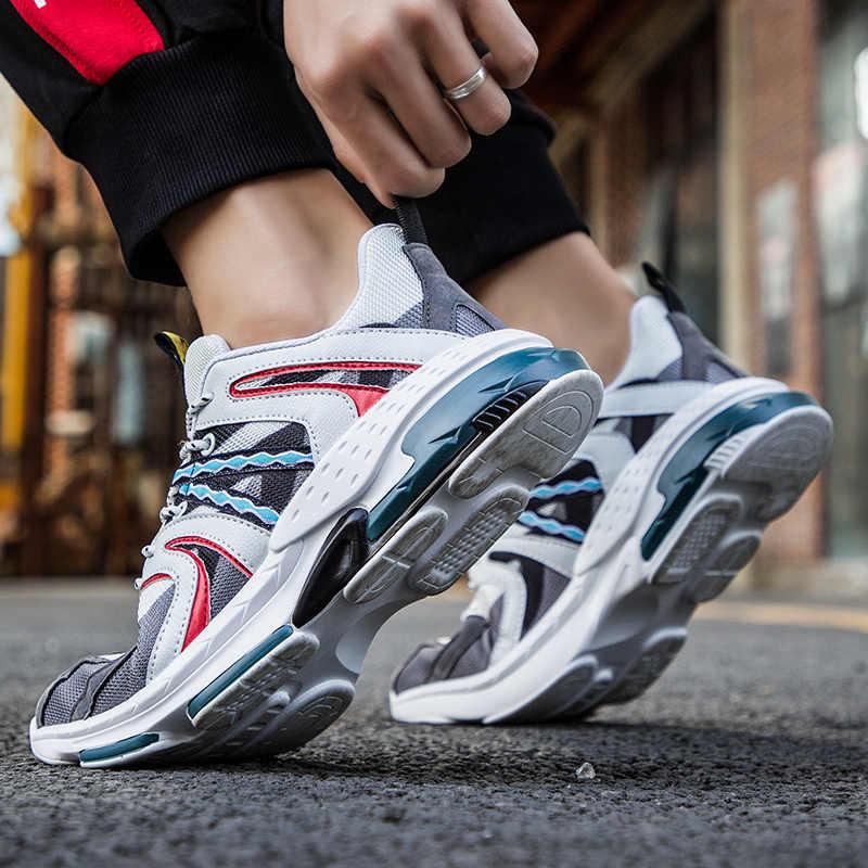 2019 Zapatillas de deporte de marca Ins para hombre, Zapatillas de moda de malla para hombre, Zapatillas vulcanizadas para hombre