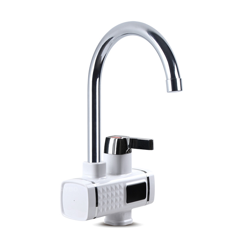 KBAYBO 3000W chauffe-eau électrique cuisine chauffage instantané froid chaud Didital affichage robinet sans réservoir pour cuisine et salle de bain - 2