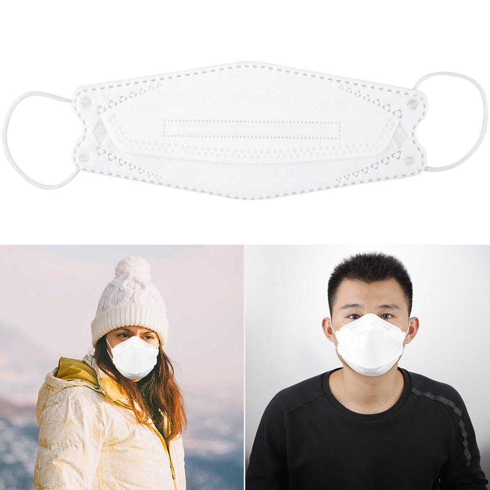 2pcs/set N95 Adult Vertical Folding Nonwoven Valved Dust Mask PM 2.5 Respirator Mouth Mask Safety Protective Mask