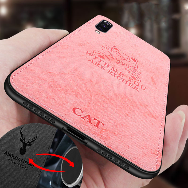 For Xiaomi Redmi 8 Case Cloth Texture Cat 3D Soft Magnetic Car Magnet Plate Case For <font><b>Xaomi</b></font> Redmi 8 Cover Silicone <font><b>Funda</b></font> Etui image