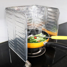 Aluminum Stove Baffle Foldable Gas Frying Oil Splash Protection Screen Kitchen Scalding Baffle Cooking Tools
