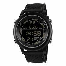 Zegarek Sanda – montre électronique pour hommes, étanche, double affichage analogique numérique LED, horloge-bracelet