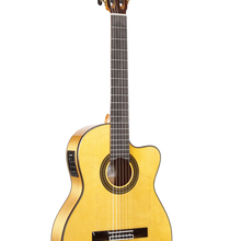 Flamenco-Guitar Electric High-End with Solid-Spruce/aguadze-Body Professional Handmade