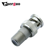 10pcs BNC Male to F Female Connector BNC Plug to F Jack Socket Adapter RF Coaxial Connector for CCTV Camera