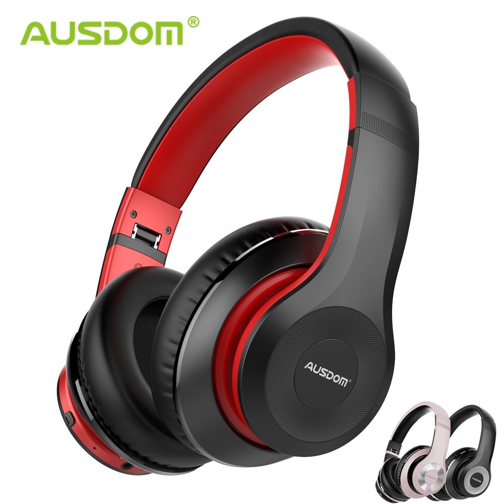 Ausdom ANC10 Aktive Noise Cancelling Bluetooth Drahtlose Kopfhörer Faltbare 30H Spielen zeit Hifi Tiefe Bass Bluetooth Headset