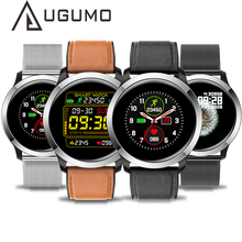 UGUMO hombres reloj inteligente ECG Fitness Tracker impermeable IP68 deporte reloj de oxígeno monitor, con avisos de recordatorio E70