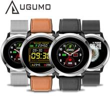 UGUMO hommes affaires montre intelligente ECG Fitness Tracker étanche IP68 Sport Smartwatch fréquence cardiaque moniteur doxygène rappel dappel E70
