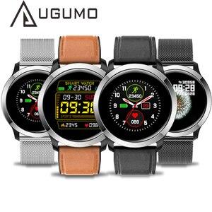 Image 1 - UGUMO hommes affaires montre intelligente ECG Fitness Tracker étanche IP68 Sport Smartwatch fréquence cardiaque moniteur doxygène rappel dappel E70