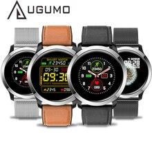 Ugumo homem negócios relógio inteligente ecg rastreador de fitness à prova dip68 água ip68 esporte smartwatch freqüência cardíaca monitor oxigênio chamada lembrete e70