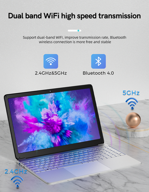 15.6 Inch Cheaper Student Notebook 6GB RAM 256GB SSD Windows 10 Laptop with Camera BT RJ45 Port for Office Class Game 4