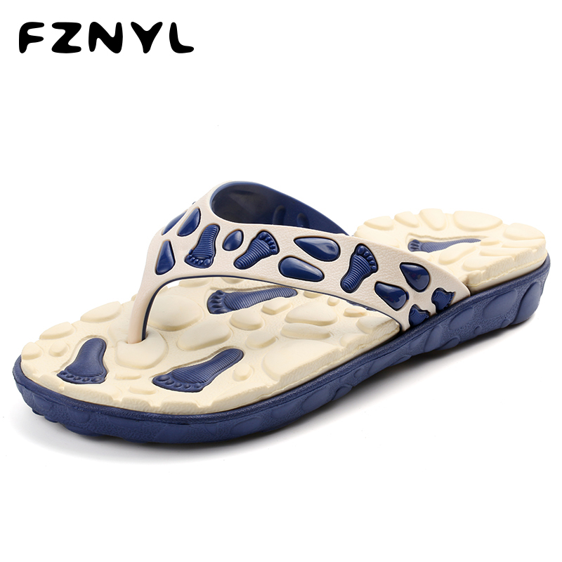 FZNYL Men's Summer Outdoor Foot Massage Slippers Male Beach Sandals EVA Soft Indoor Flip Flops Non-slip Home Bathroom Shoes 2019