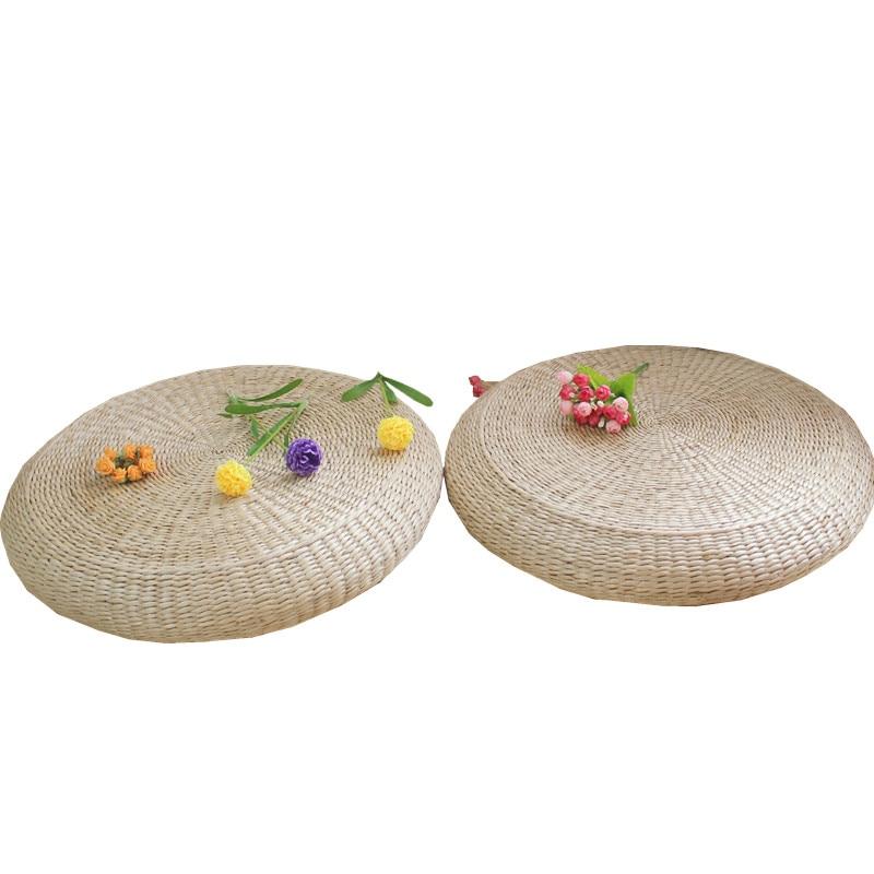 ound straw bench stool thickening meditation Buddha sitting cushion tea art window seat cushion straw mat stool   - title=