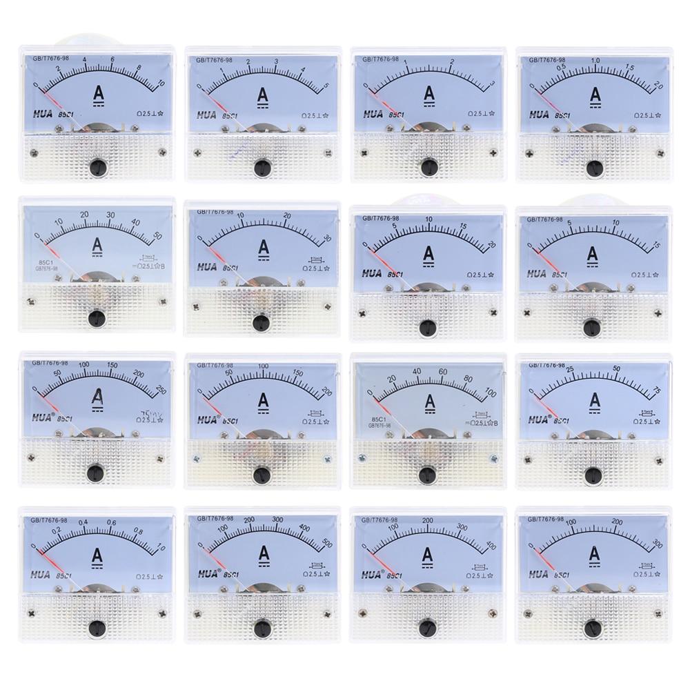 DC аналоговая панель измерителя тока 1A 2A 3A 5A 10A 20A 30A усилитель датчика тока механические амперметры 85C1|Измерители тока|   | АлиЭкспресс