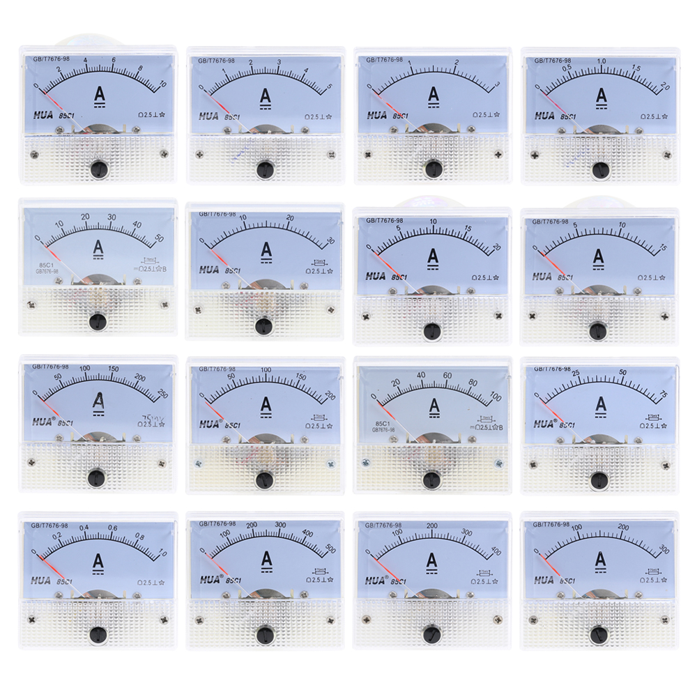 DC аналоговая панель измерителя тока 1A 2A 3A 5A 10A 20A 30A усилитель датчика тока механические амперметры 85C1