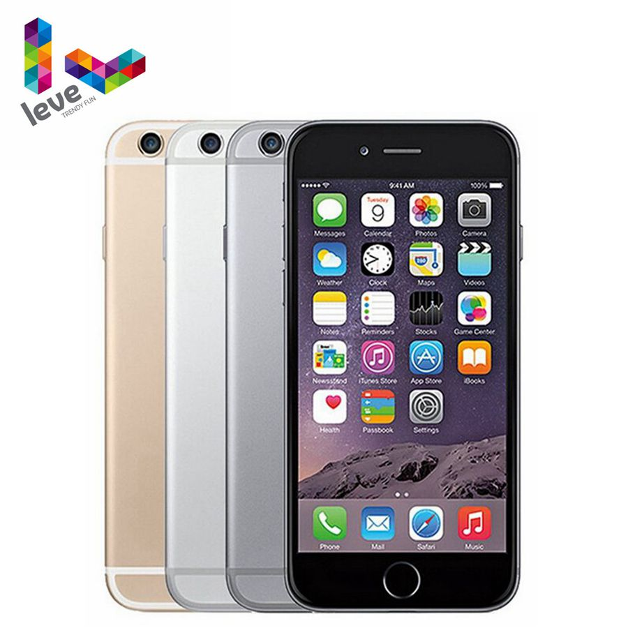 "Original Apple iPhone 6 Mobile Phone <font><b>4G</b></font> LTE 4.7""1GB RAM 16/64/128GB ROM 8.0MP <font><b>Dual</b></font> Core iOS Fingerprint Unlocked <font><b>Smartphone</b></font> image"
