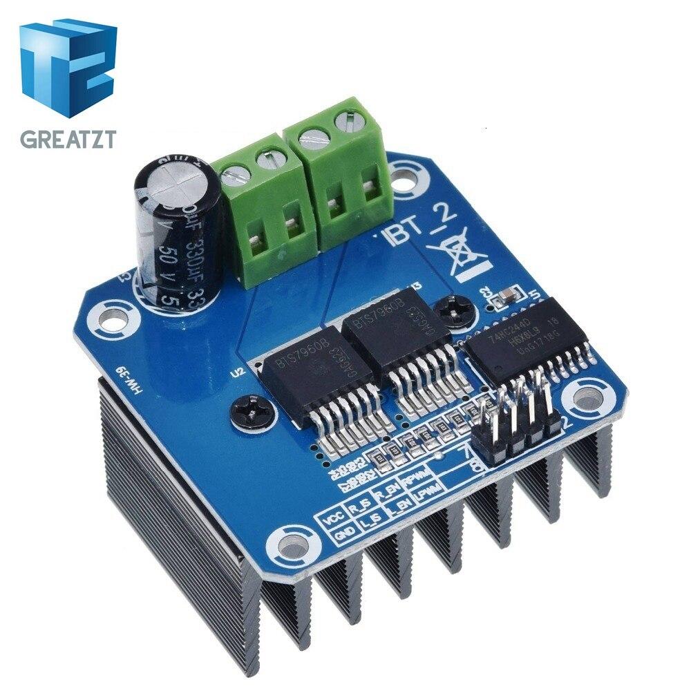 TZT Doppel BTS7960 43A H-bridge High-power Motor Treiber modul/diy smart auto Strom diagnose für arduino