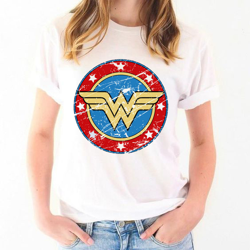 Summer Top 2019 T-<font><b>shirt</b></font> Anime Wonder Woman T <font><b>Shirt</b></font> <font><b>Women</b></font> Feminist White Chemise Femme Tshirts Graphic T <font><b>Shirts</b></font> image