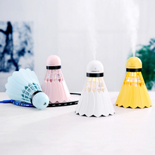 купить Mini Air Humidifier Usb Ultrasonic Car Air Diffuser Atomizer With Led Night Light Badminton Purifier Suitable For Outdoor Home дешево