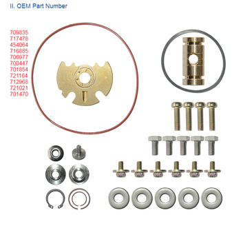 Hot Turbocharger Repair Kit Durable Easy Install Replacement Part Car Metal Assortment Journal Bearing For Garrett GT15-25 GT174