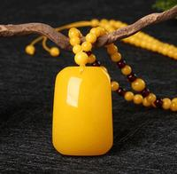 Designer's jewelry amber honeywax sweater chain retro pendantnational autumn and winter long pendant
