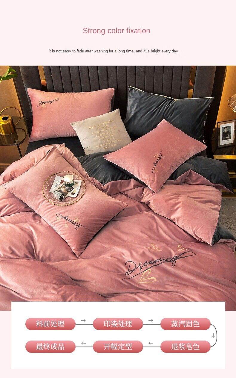 leite flanela de veludo 3 peças capa de cama