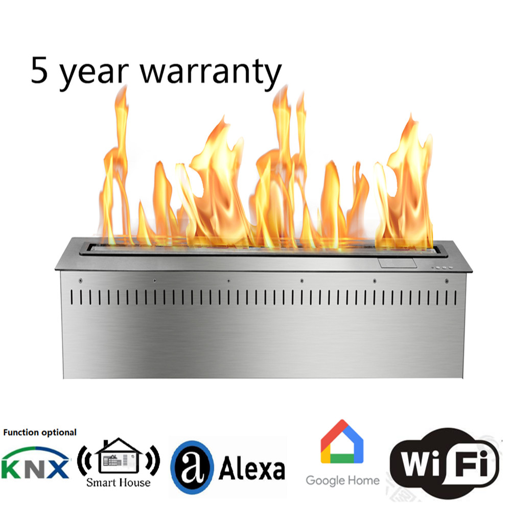 36 Inch Real Fire Intelligent Smart Bio Ethanol  Electric Fireplace Pellet Stove