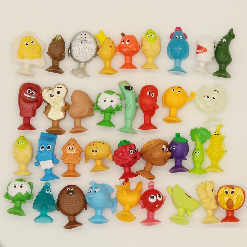 Может занять от 10 до 30 шт. случайный мини ультразвуковой овощей фигурку присоски игрушки Stikeez мягкие фрукты с пластмассовыми фигурками капс...