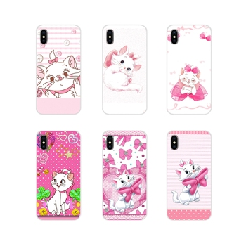 For Samsung Galaxy J1 J2 J3 J4 J5 J6 J7 J8 Plus 2018 Prime 2015 2016 2017 Accessories Phone Case Cover Pink marie aristocats Cat image