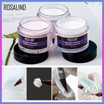 ROSALIND Acrylic Powder Nail Gel Poly For Nail Art Acrylic Nail Kit Clear Set Glitter Powder Acrylic Nails For All Manicure