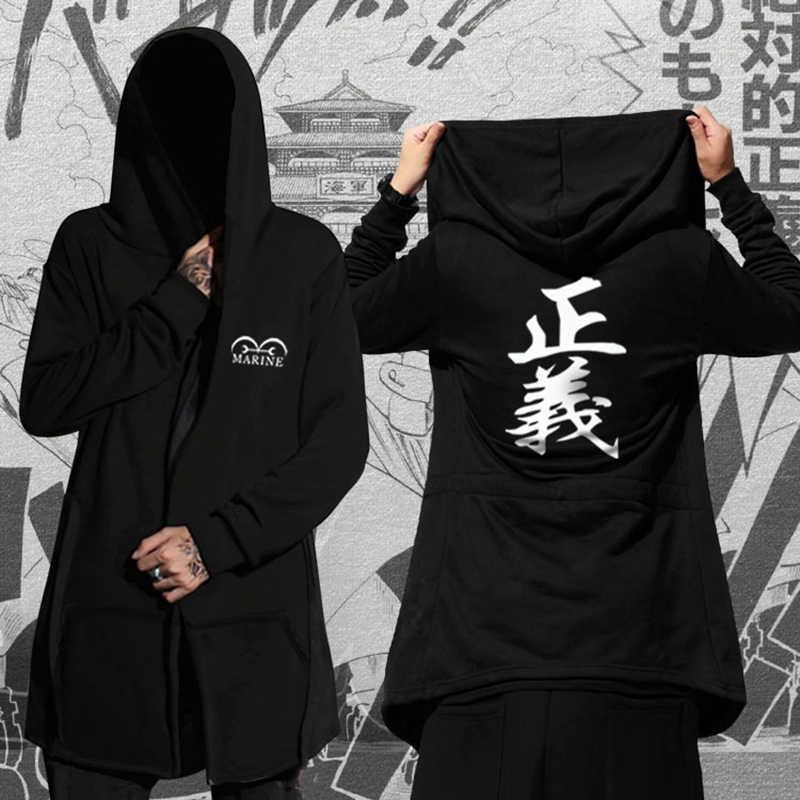 Autunno Inverno Felpe Uomini Felpe A Manica Lunga Nero Mantello Scialle Outwear Streetwear Stile Con Cappuccio degli uomini Più