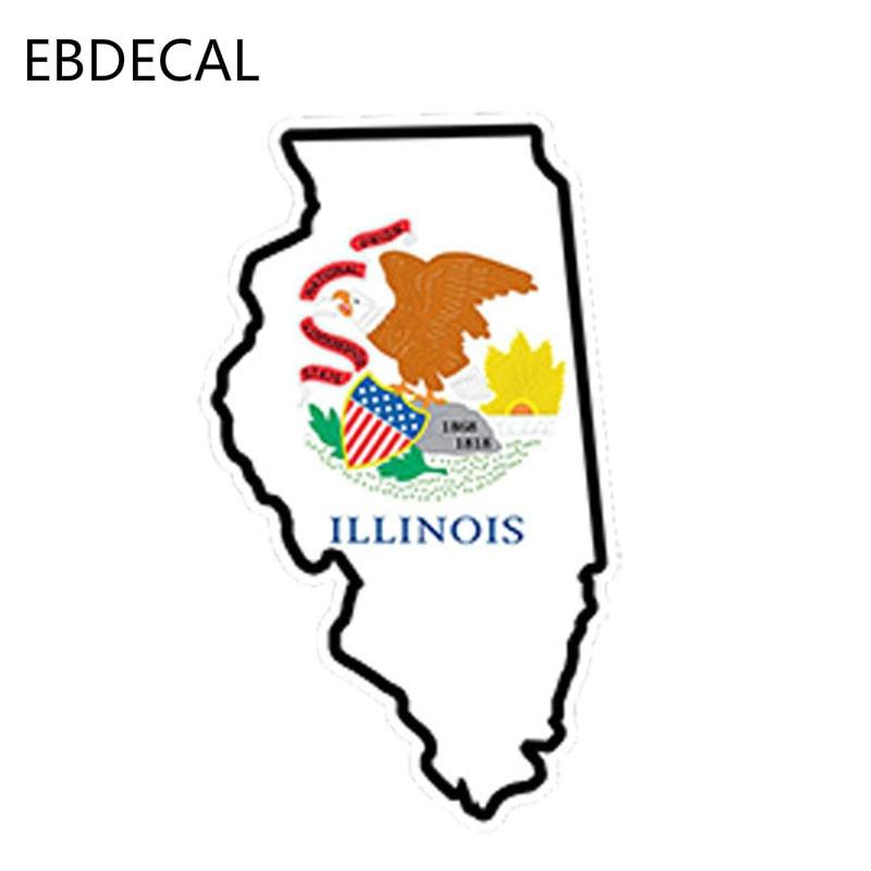Illinois Decal Il Decal Illinois Sticker White Illinois Etsy