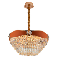 Zhongshan Custom Luxury Lobby Hotel Restaurant Decoration Indoor Ceiling Led Modern Chandelier Crystal Lighting For Home
