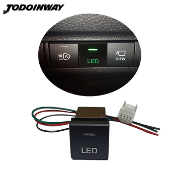 Car LED Light Button Switch For Toyota Camry RAV4 Corolla For Land Cruiser Prado 150 Series Altis 2018 2019 2020 image