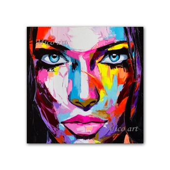 Sexy Woman Face Art Oil Painting Pure Handmade Canvas Wall Decor Artwork Paintings Unframed Wall Art For Living Room Decoration