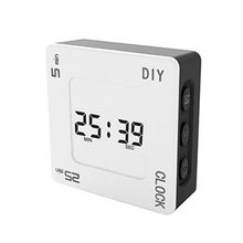 DIY Time Management Pomodoro Timer Creative Square Alarm Clock for students Y98D