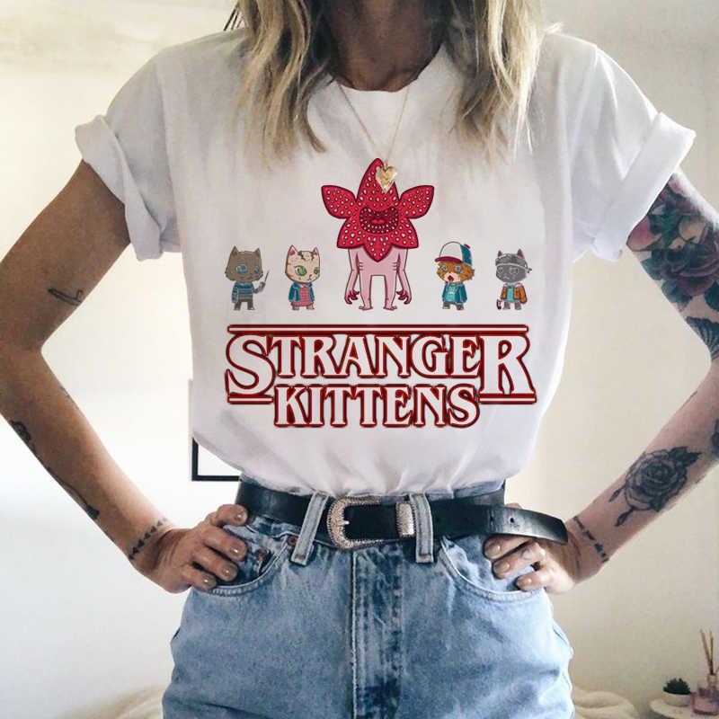 Stranger Dingen T-shirt Elf Vrouwen Top Tees Shirts Womens Tshirt Casual T-shirt Vrouwelijke Kleding Harajuku Funny Movie Tops Femme