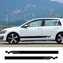 2 шт. боковой Стикер для двери автомобиля для Volkswagen VW Golf 7 5 4 6 MK7 MK5 Passat B6 B7 B5 Polo 6R 6N T5 Jetta 6 Touareg Bora аксессуары