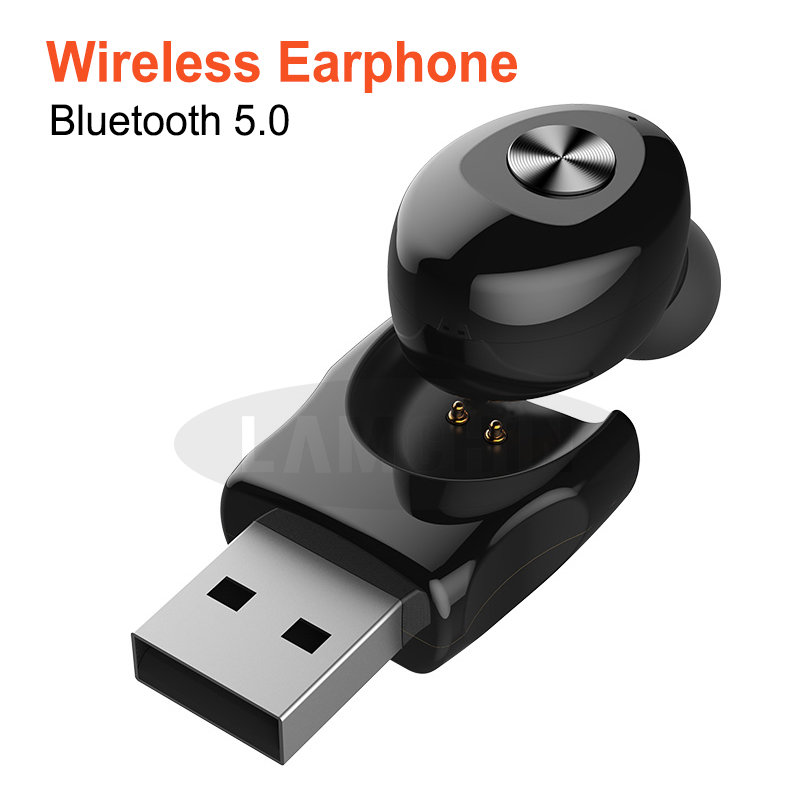 Wireless Earphone TWS 5.0 Bluetooth Stereo Earbud Earphones With Mic Handsfree USB Sport Headset For IPhone Samsung