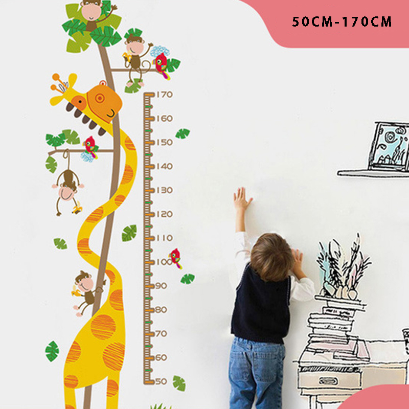 Height Stickers Removable Wall Stickers Cartoon Child Height Measure Wall Decoration Stickers Growth Chart Kid Bedroom Decor