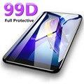 Закаленное стекло 99D с изогнутыми краями и полным покрытием для iPhone 7 8 6 6S Plus, защитная пленка для экрана iPhone X XR XS Max, защитное стекло