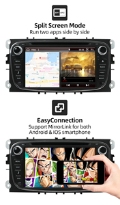 Image 5 - Autoradio 2 الدين أندرويد 10.0 مشغل أسطوانات للسيارة راديو لفورد فوكس مونديو s ماكس كوجا c ماكس واي فاي عجلة القيادة السيطرة dab 4GB + 64GB