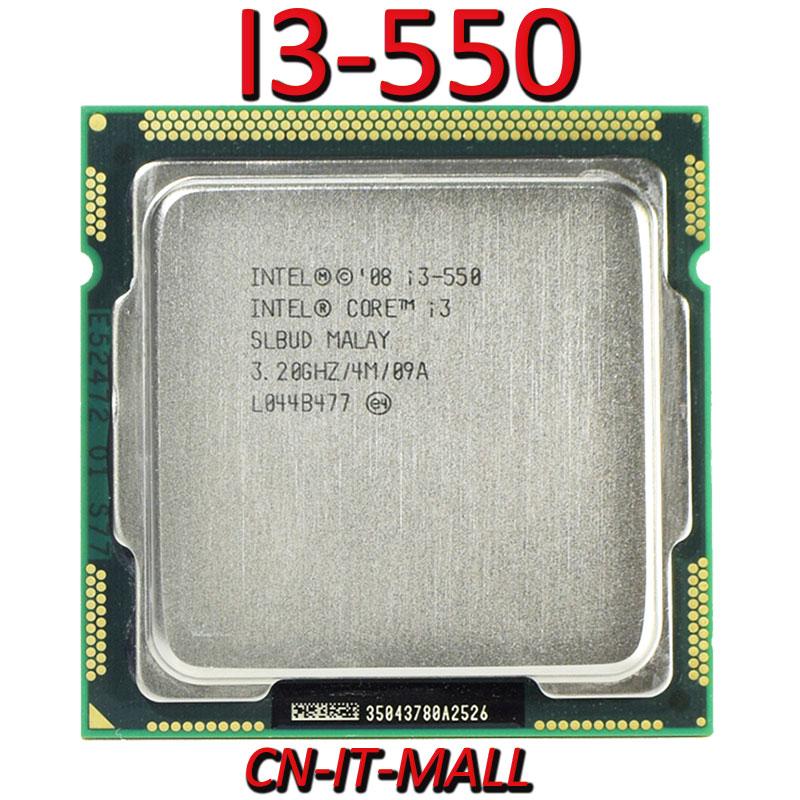 인텔 코어 I3-550 CPU 3.2G 4M 2 코어 4 스레드 LGA1156 프로세서