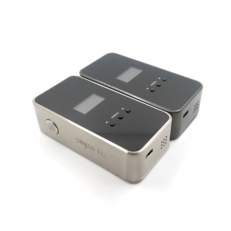 Clearance Original SMY 50 TC Mod 50W Mini Box Fit 18650 Battery Temperature Control Mechanical E Cigarette Vape Vaporizer Mod