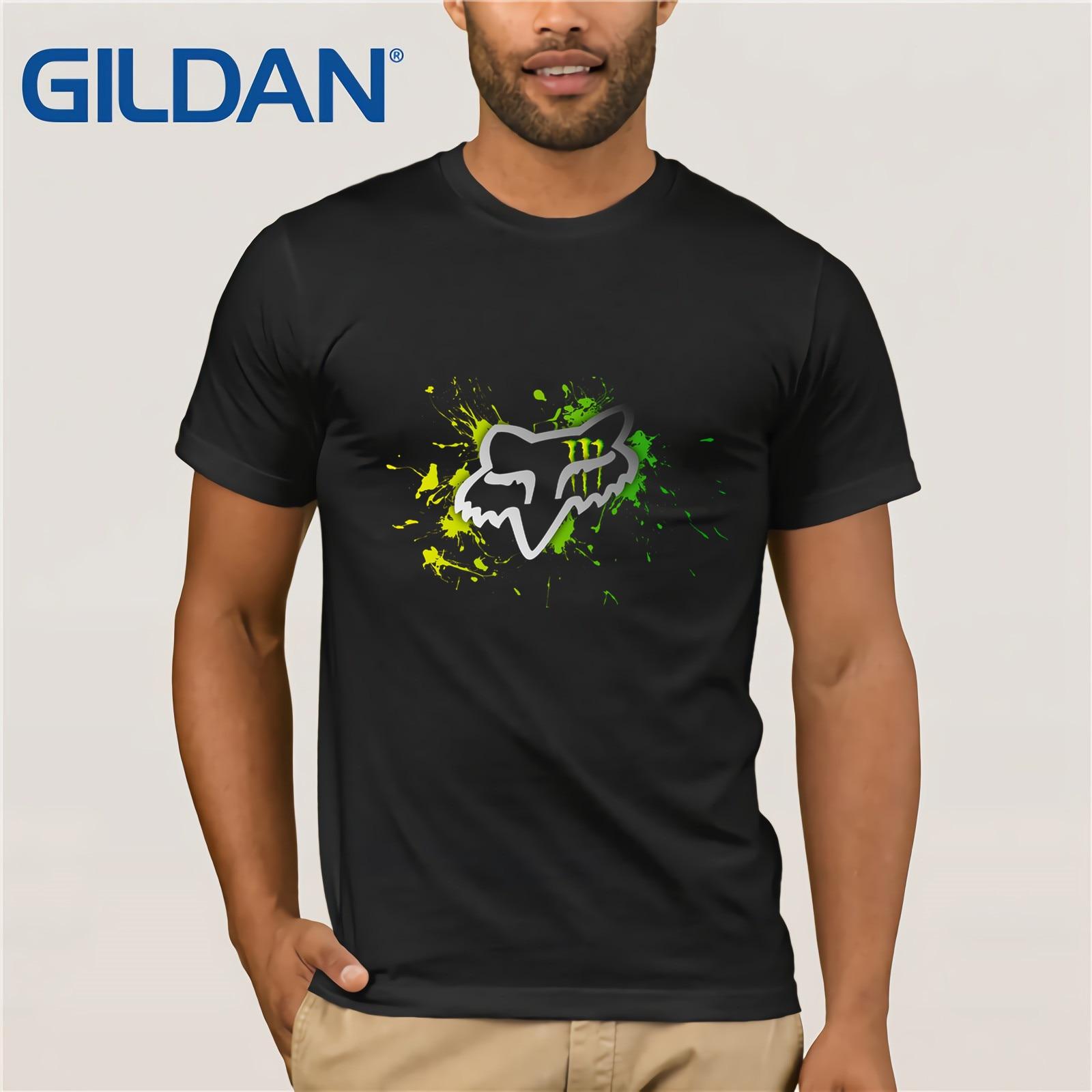 Men T Shirt  Fox Voltcano Short Sleeve Summer Basic Casual Short Cotton  Men's Slim Short Sleeve Shirt Custom Men's Fun Shirt