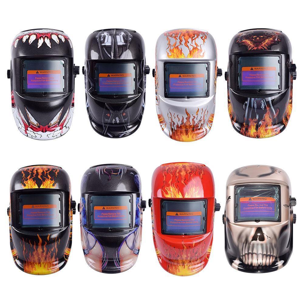 8 Styles Welding Helmet Auto Darkening Darkening Welding Multifunction Protective Welding Mask UV Protection Lens Tig Helmets